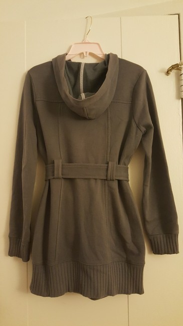 Forever 21 Cotton Polyester Hooded Gray Jacket