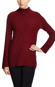 August Silk Burgundy Soft Turtleneck Bell Sleeve Comfortable Sweater