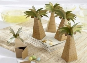 100 Palm Tree Favor Boxes