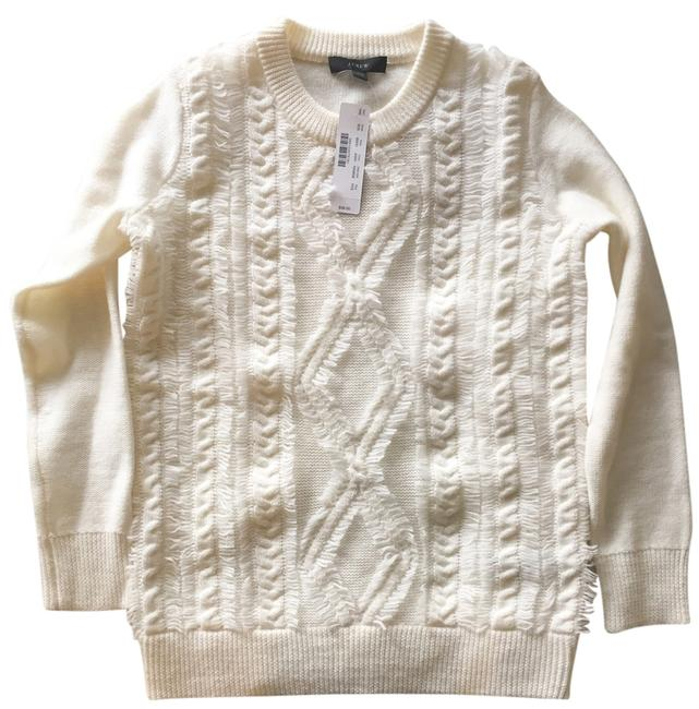 Preload https://item4.tradesy.com/images/jcrew-cable-crewneck-with-fringe-cream-sweater-10166008-0-1.jpg?width=400&height=650
