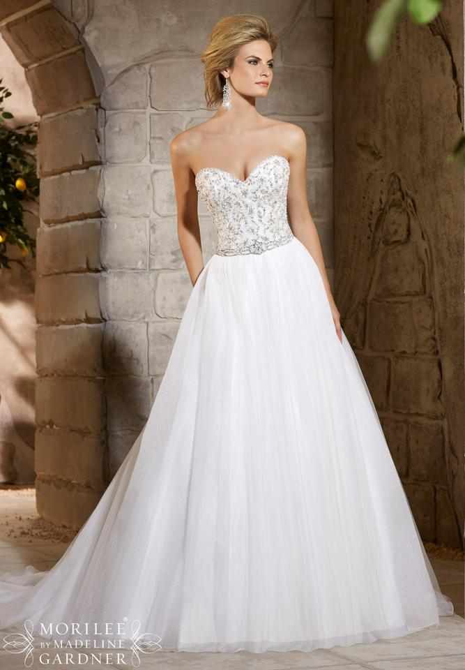 Mori lee ivorysilver tulle and 2775 traditional wedding dress mori lee ivorysilver tulle and 2775 traditional wedding dress size 8 m junglespirit Images