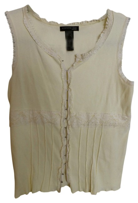 Kenneth Cole Top Pale yellow
