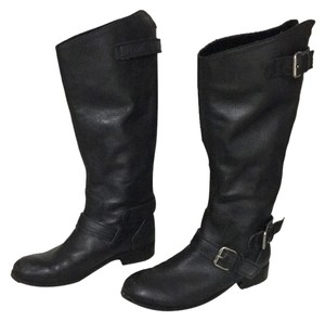 Dolce Vita Leather Motorcycle Zipper Black Boots