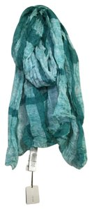 Burberry House Check Veridian Green Chambray Scarf Wrap