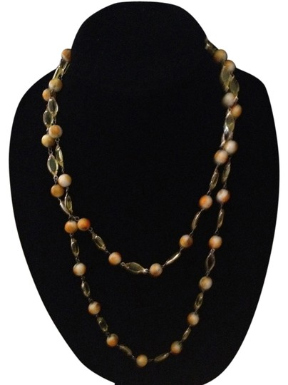 Preload https://item1.tradesy.com/images/unknown-vintage-double-wrap-long-orange-white-faux-stone-necklace-1016660-0-0.jpg?width=440&height=440