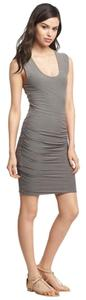 James Perse short dress Gray Rouched Designer on Tradesy