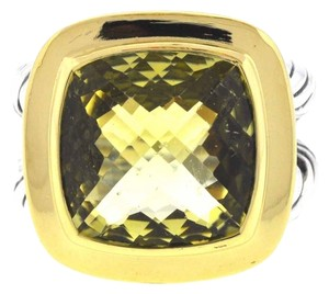 David Yurman David Yurman Sterling Silver 18k Yellow Gold Lemon Citrine Albion Ring