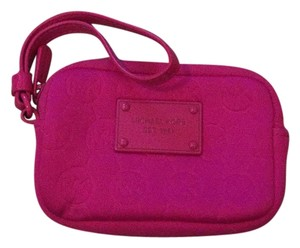 Michael Kors Wristlet in Bright Pink