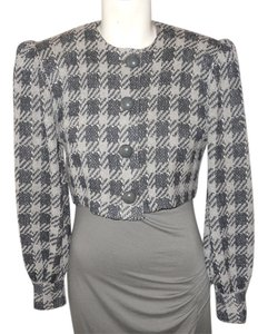 St. John Vintage Knit black & grey Blazer