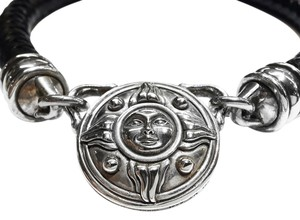 Barry Kieselstein-Cord BARRY KIESELSTEIN-CORD Sun Medallion Necklace in Leather and Sterling Silver