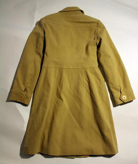 Trina Turk Long Flannel Trench Coat Image 2