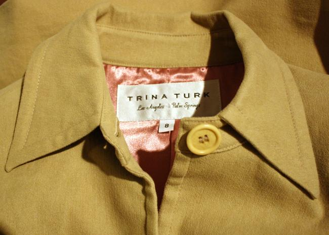 Trina Turk Long Flannel Trench Coat