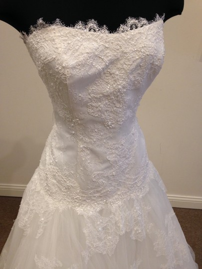 Ivory Lace & Tulle Alexandra Vintage Wedding Dress Size 14 (L)