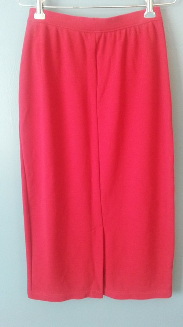 Worthington Knit Long Polyester Blend Pencil Maxi Skirt Red Image 2