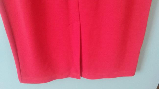 Worthington Knit Long Polyester Blend Pencil Maxi Skirt Red Image 3