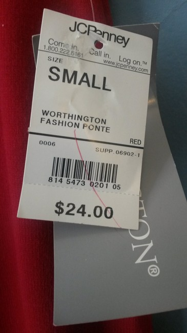 Worthington Knit Long Polyester Blend Pencil Maxi Skirt Red Image 4