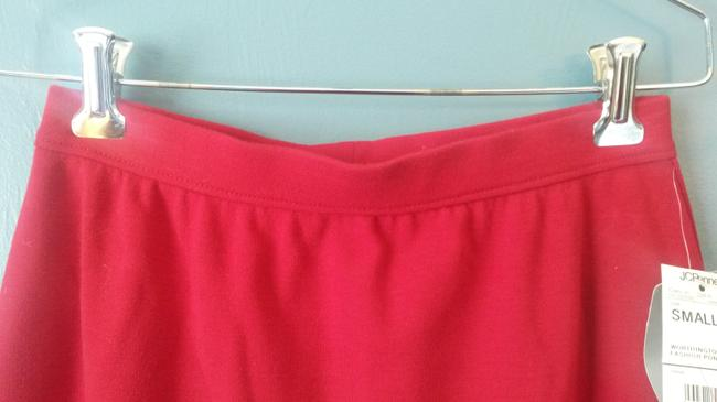 Worthington Knit Long Polyester Blend Pencil Maxi Skirt Red