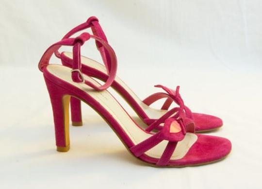 Banana Republic Suede Velvet Hot Summer Sexy Leather Pink Sandals