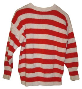 Gap Ramie/Cotton Blend Oversized Red/White Sweater