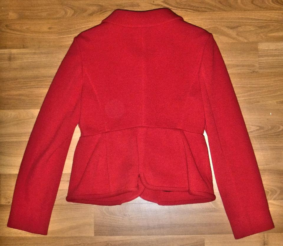 Miu Miu Red Classic Wool Jacket - Structured Yet Feminine Pant Suit Size 10  (M)