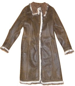 Sylvie Schimmel Lamb Shearling Studded Fur Coat