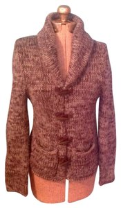 Moda International Wooden Buttins Acrylic Wool Cardigan