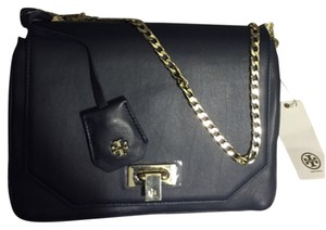 Tory Butch clutch Brand New! Lambskin! navy Clutch