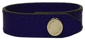 Fendi Fendi Royal Blue Neon Leather Snap Bracelet 7AJ043