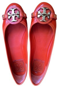 Tory Burch Patent Leather Orange Flats