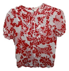 Allison Taylor Button Down Shirt Red/White