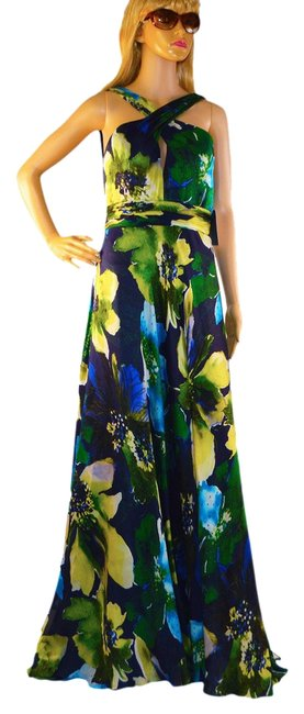 Preload https://item3.tradesy.com/images/theia-green-navy-blue-yellow-long-cocktail-dress-size-8-m-1016962-0-0.jpg?width=400&height=650