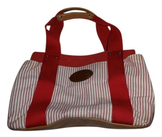 Tommy Hilfiger Pinstripe Tote in Red/White