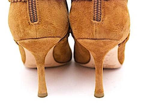 Jimmy Choo Suede Rear Zip Caramel Boots