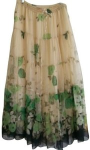 Rebecca Taylor Skirt Ivory and green