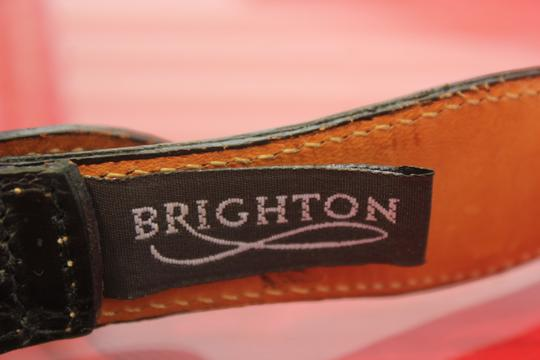 Brighton Brighton Belt Black leather and silver 42603 Crafted with pride in USA