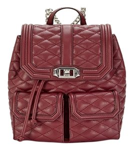 Rebecca Minkoff Leather Silver Hardware Quilted Rocker Festival Backpack