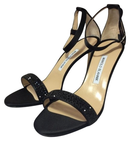 Manolo Blahnik Black Sandals Image 1