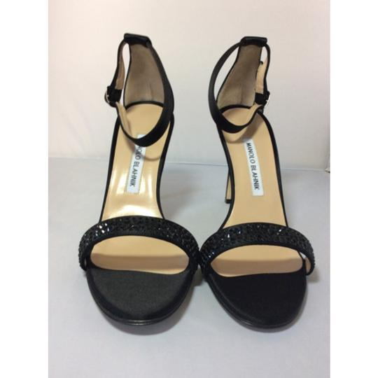 Manolo Blahnik Black Sandals Image 2