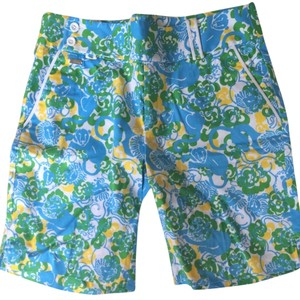 Lilly Pulitzer Shorts Blue Green Yellow White