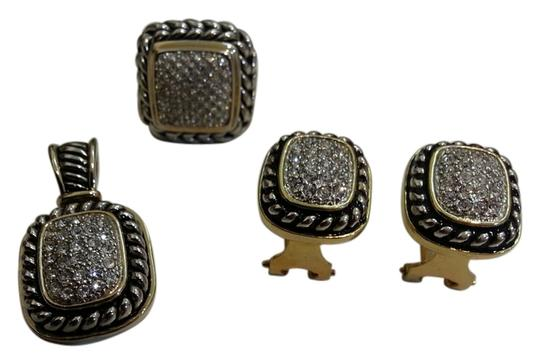 Preload https://item3.tradesy.com/images/silver-pave-cz-pendant-post-earrings-and-ring-10171042-0-3.jpg?width=440&height=440