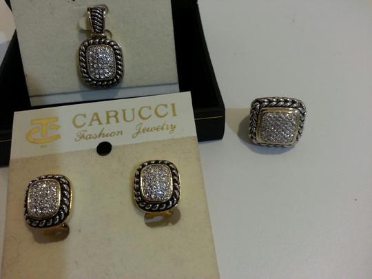 Lagos Style Lagos Style Pave' CZ Pendant, Post Earrings and Ring