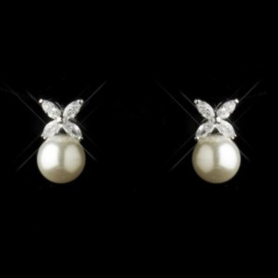 Elegance By Carbonneau Diamond White Pearl And Marquise Cz Wedding Jewelry Set