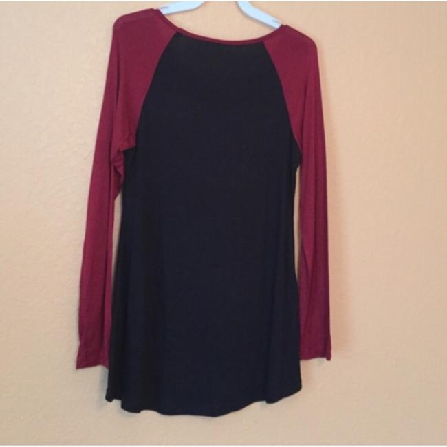 Style Addicts Top Black/burgundy