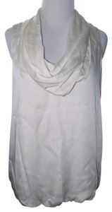 Michael Kors Bubble Elegant Cowl Neck Formal Top Ivory / Off White