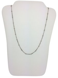 14K White Gold Beads by the Yard Chain 18 Inches