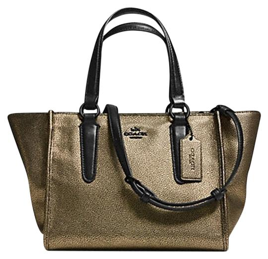 Preload https://item1.tradesy.com/images/coach-crosby-mini-carryall-in-metallic-f33848-brass-gold-saffiano-leather-satchel-10173190-0-3.jpg?width=440&height=440