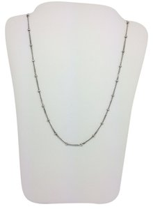 14K White Gold Beads by the Yard Chain 16 Inches