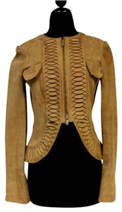 Gucci Valentino Tom Ford Givenchy Tan Leather Jacket