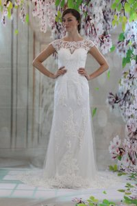 Elegant Scoop Neck Aline Lace Applique Wedding Dress Wedding Dress