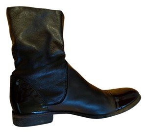 Barneys New York Leather Flat Date Night Dark Brown Boots